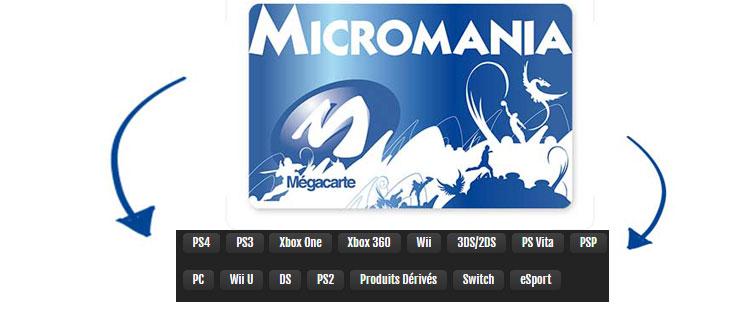 offre de fidélité de la carte Micromania