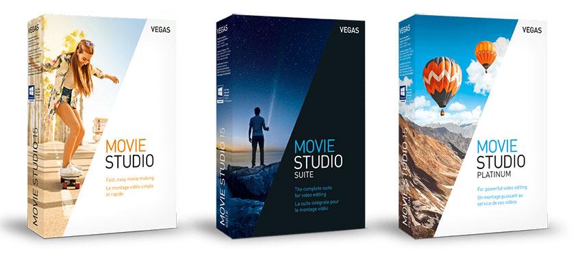 Testez la Suite VEGAS Movie Studio en période d'essai