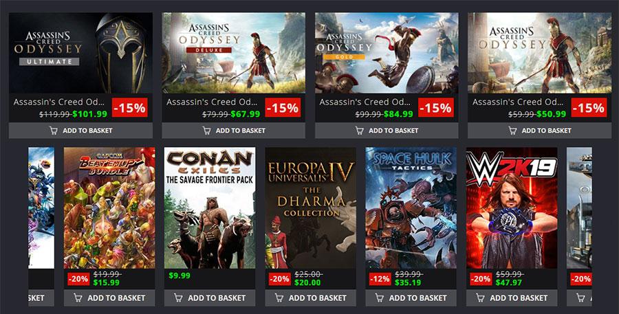 catalogues des offres de jeux multi-plateforme