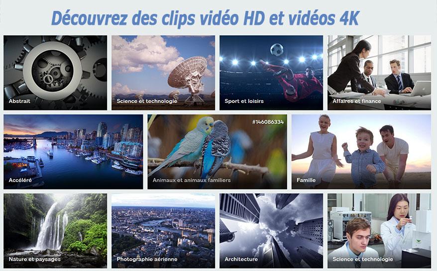 vidéos HD 4k et 8K libres de droits