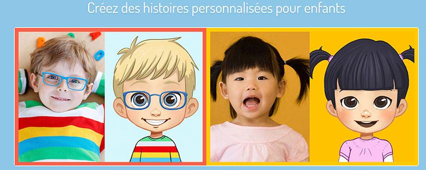Histoires de personnages personnalisés