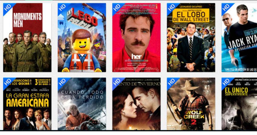 catalogue des films et séries