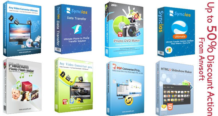 Pack : Any Video Converter & Syncios Data & & PDF Converter