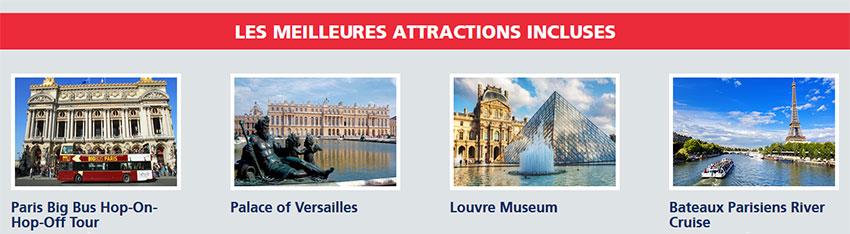 principales attractions touristiques de paris
