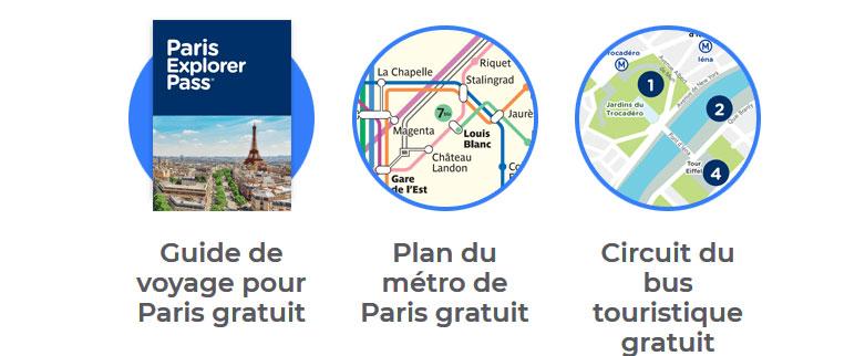 votre cadeau offert : guide touristique paris + carte de voyage gratuite