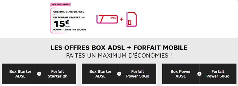 Forfaits mobile + services bouquets & chaînes TV