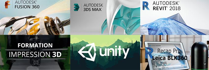 Catalogue de formations d'infographie 3D