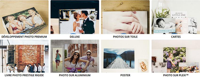 Divers formats de développement Photo Numérique