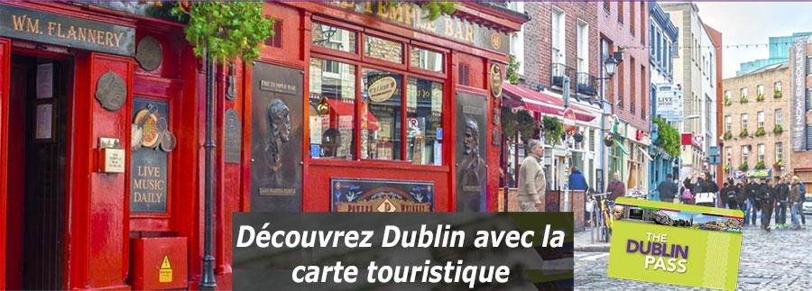 La carte touristique de dublin (forfait journée)