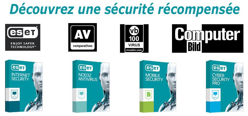 Toutes les solutions ESET pour la protection Antivirus