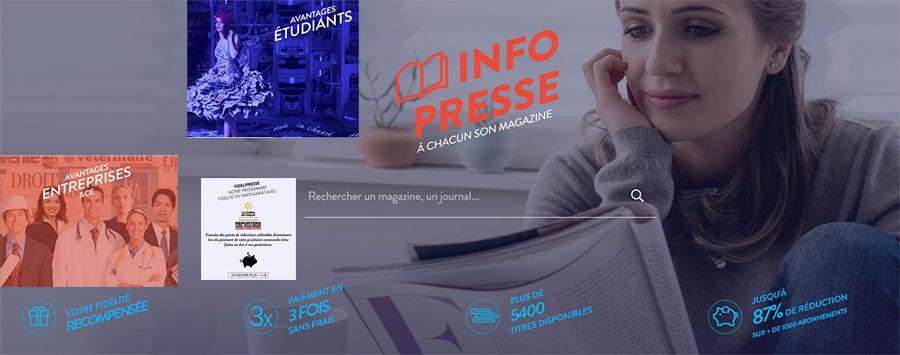Kiosque numériques d'abonnements magazines