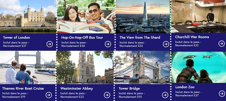 Top des attractions à Londres