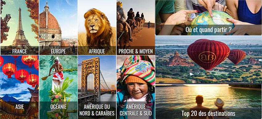 Top de 10 destinations voyages