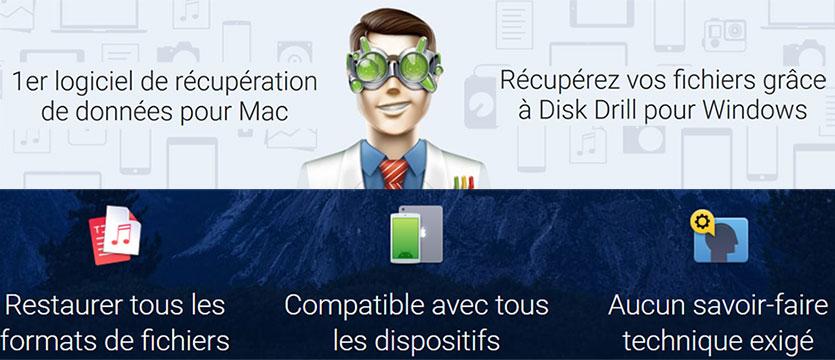 Disk Drill pour PC et Mac