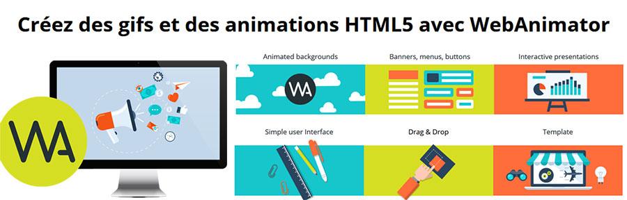 Création de GIF et d'animations HTML5 avec WebAnimator