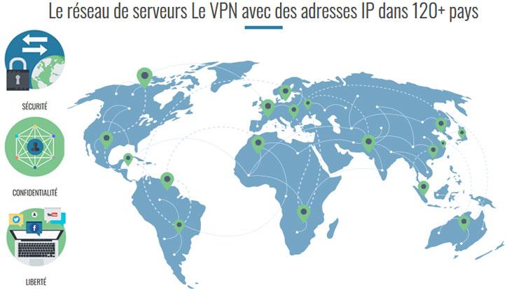 Serveur Le VPN dans le monde